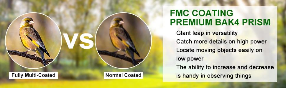 bird watching binoculars for adults FMC Coating BAK4 Prism