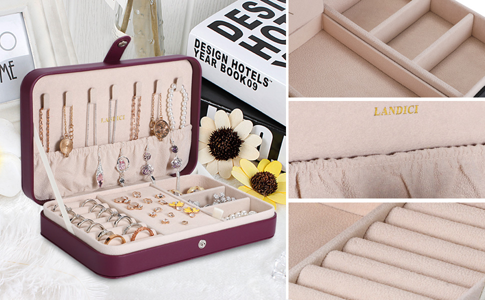 All in one jewelry organizer box