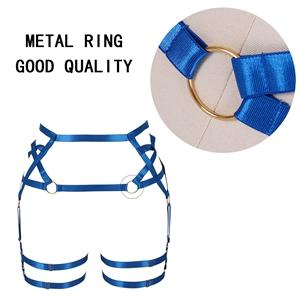 Harness Garter Belt+Royal blue
