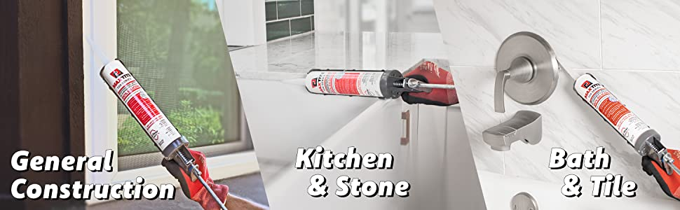 Silicone sealant is versatile and can be used for a variety of projects