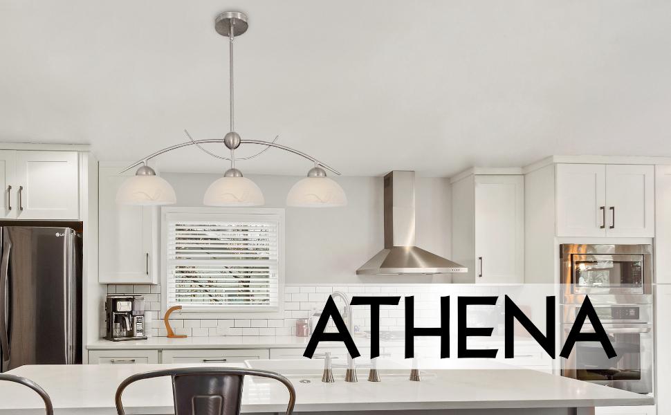 Kira home athena island light brushed nickel cozy sleek interior design overhead indoor 3 light