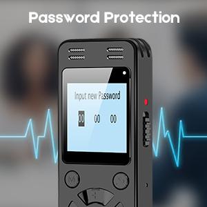 voice recorder password
