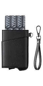 VULKIT card holder pop up mens wallet rfid blocking protection slim bank card holder