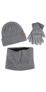 hat scarf and glove set for men