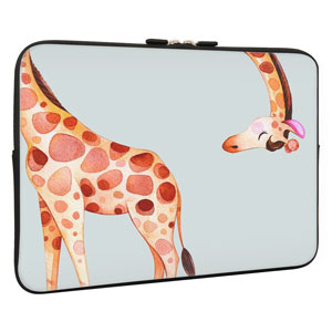 Air Gao808yuniqi Giraffe Funny Animal Love View Happy Mammal Laptop Sleeve Shoulder Bag for Women Protective Carrying Case Compatible with 13-15 Inch MacBook Pro Notebook,Slim Sleeve