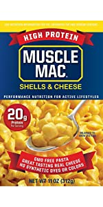 Muscle Mac Deluxe Shells amp; Cheese Macaroni and Cheese Mac'n Cheese high protein vegetable protein