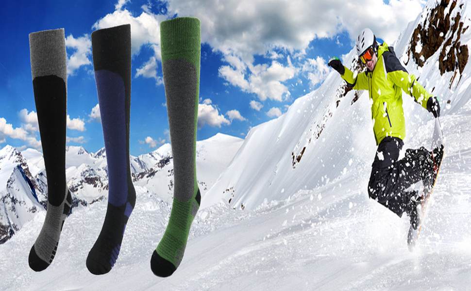 Wool ski socks