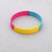 CHOORO LGBT Bracelet Gay Pride Bracelets Rainbow Silicone Rubber Wristbands LGBTQ Jewelry Gay Pride Gifts