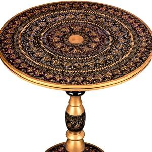 end tablelilac/purple round living room