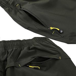 mens shorts casual drawstring zipper pockets elastic waist sports quick dry workout running short