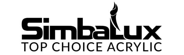 simbalux top choice acrylic logo slogan