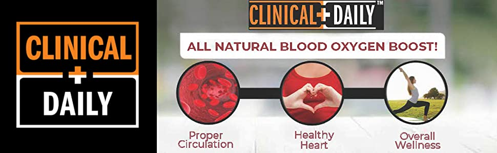 CLINICAL DAILY Blood circulation supplements support a healthy heart nitric oxide levels and veins
