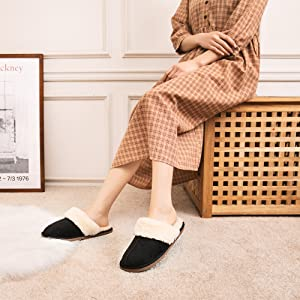 women slippers black