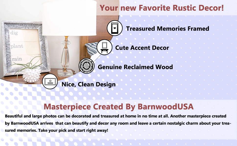Advantages of BarnwoodUSA Rustic Picture Frame