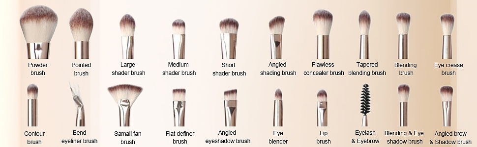 professionele make-up borstels set