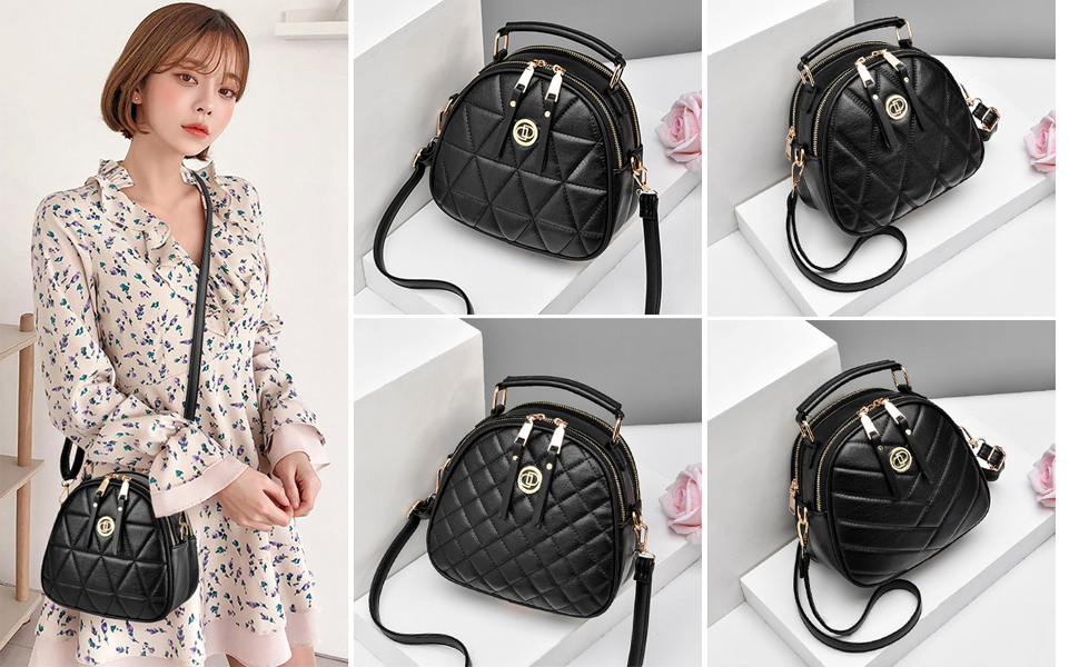 Crossbody Bag for Women Small, Cute Leather Shoulder Purses