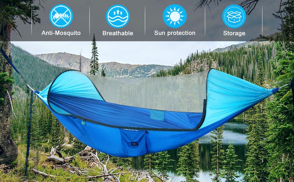 Large camping hammock