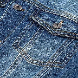 Women Oversized Denim Jacket Pearls Beading Jeans Coat