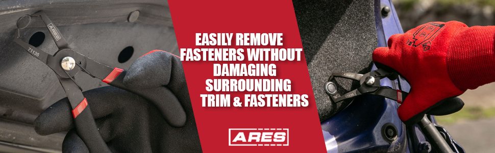 Easily remove fasteners without damaging surrounding trim and fasteners
