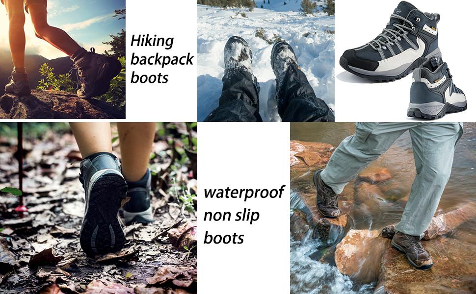 Wantdo Men's Ankle Waterproof Boots
