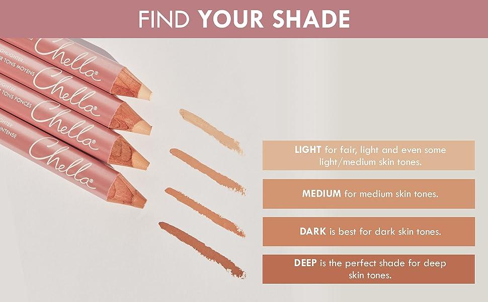 light medium dark deep skin tone all skin tones