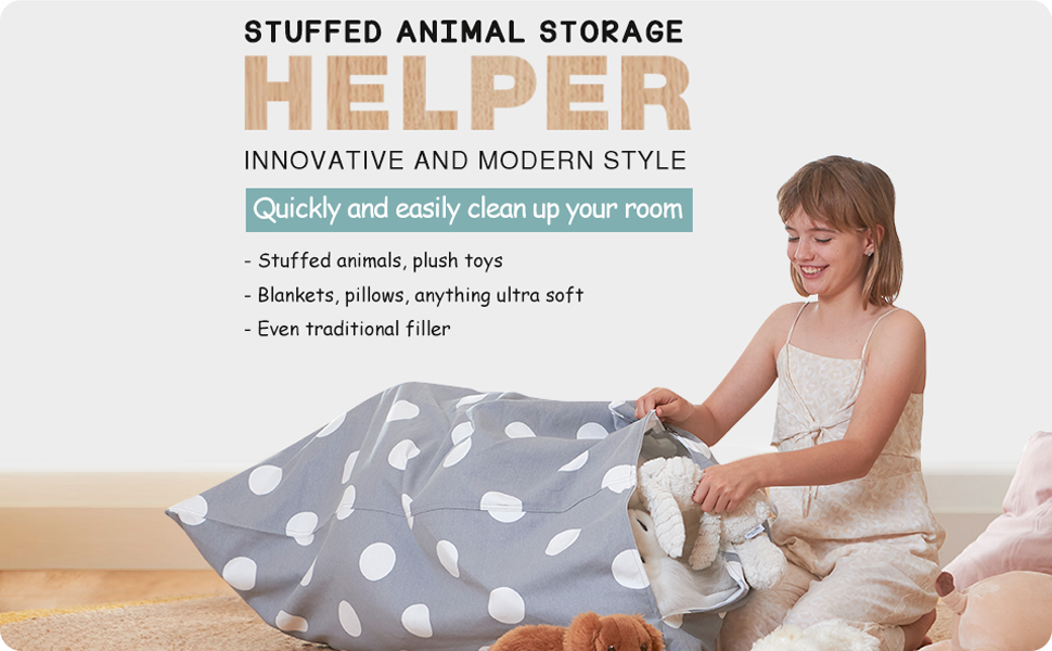 stuffed animal storage helper