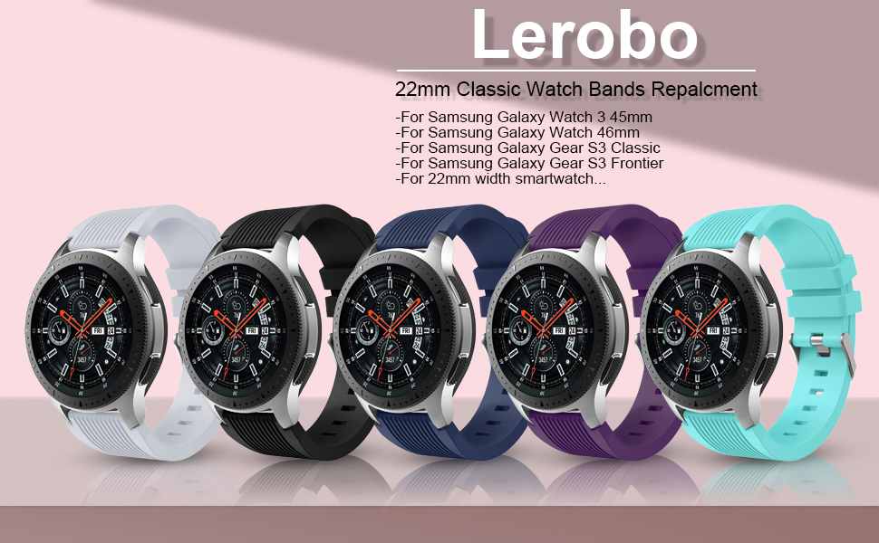 Lerobo Compatible for Samsung Galaxy Watch 3 Band 45mm