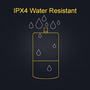 IPX4 High Water Resistant Rating Battery Compartment