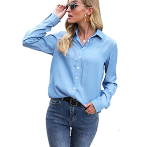 Women's chambray button down shirt