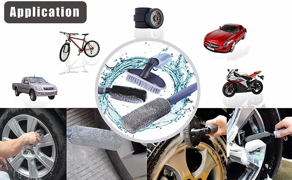 3 Pcs Car Wheel Brush