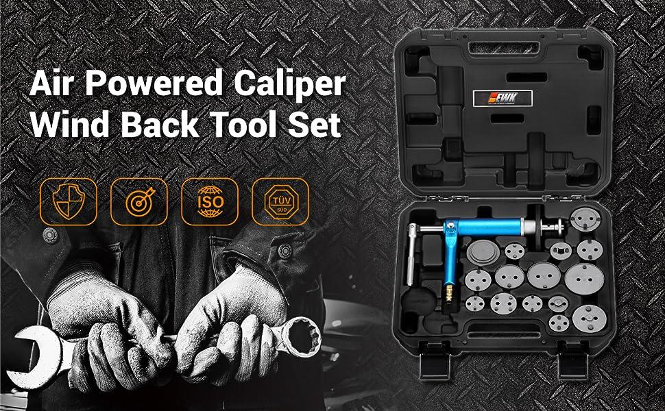 Caliper piston wind back tool caliper windback tool piston windback tool air piston retract tool