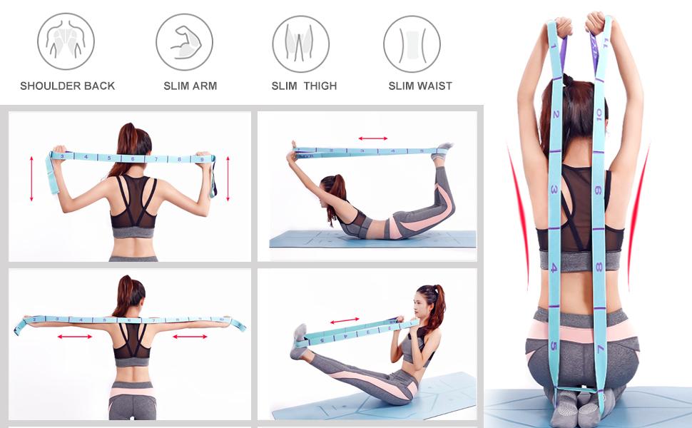 les /étirements la physioth/érapie Bandes /élastiques de yoga Brussels08 Bande de r/ésistance en latex avec boucles pour la gym et lentra/înement Pour le fitness /à domicile etc.