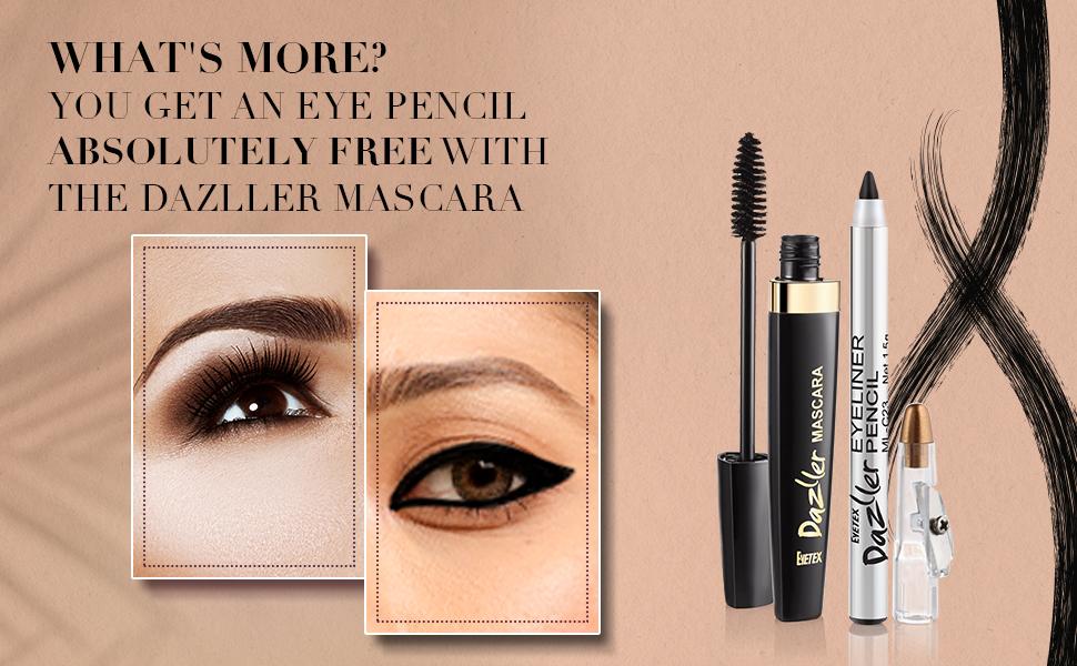 Dazller Mascara, Dazller Eyeliner, Dazller Eye Pencil, Eyetex Dazller Eye Look