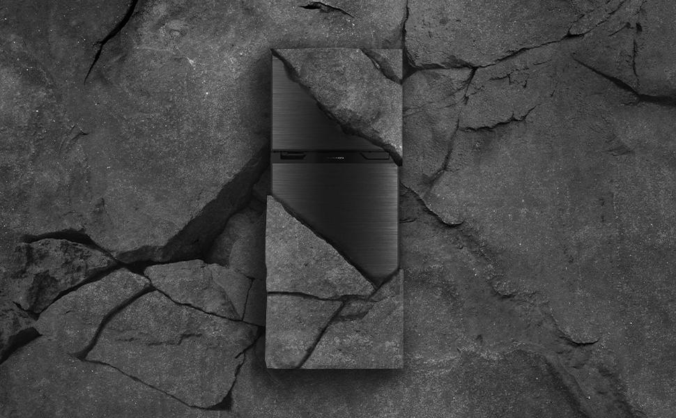 Black VCM Stainless Steel Door Panel FCR10DCDTA-BL-BS Furrion 10 cu Camper or Trailer with Independent Freezer for RV Black ft Furrion Arctic 12 Volt Right Hinge Built-In Refrigerator