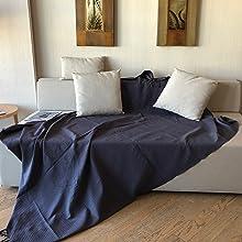 Bersuse Waffle Beach Blanket Bed Throw
