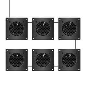 AC Infinity AIRPLATE S1 Quiet Cooling Blower Fan System with Speed Control Home Theater AV Cabinets
