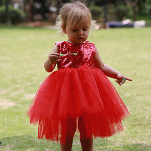 toddler girl red dress