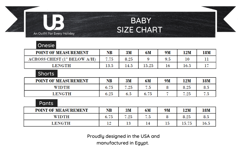 Unique Baby Girls Boys Outfits Kids Baby Holiday Fashion Legging Set size chart