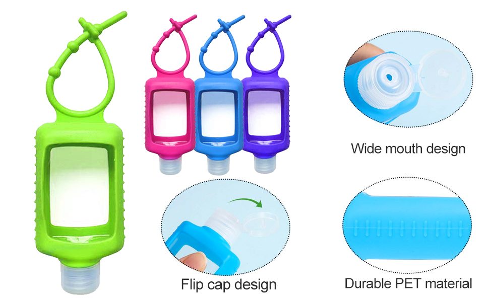 Hand Sanitizer Holder Keychain for backpack