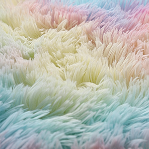 rainbow rugs - Junovo Soft Rainbow Area Rugs For Girls Room, Fluffy Colorful Rugs Cute Floor Carpets Shaggy Playing Mat For Kids Baby Girls Bedroom Nursery Home Decor, 4ft X 6ft