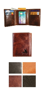 mens wallet trifold leather