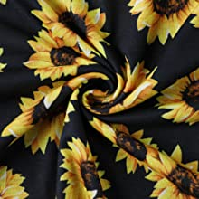 Sunflower Printed Back