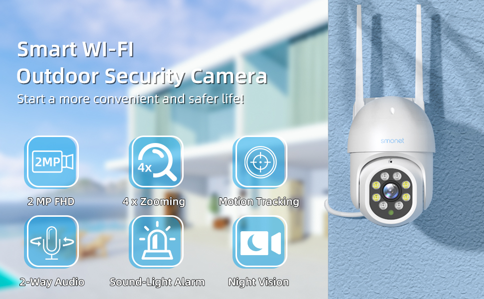 smart wifi outdoor security camera