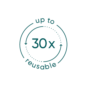 reusable up to 30 times