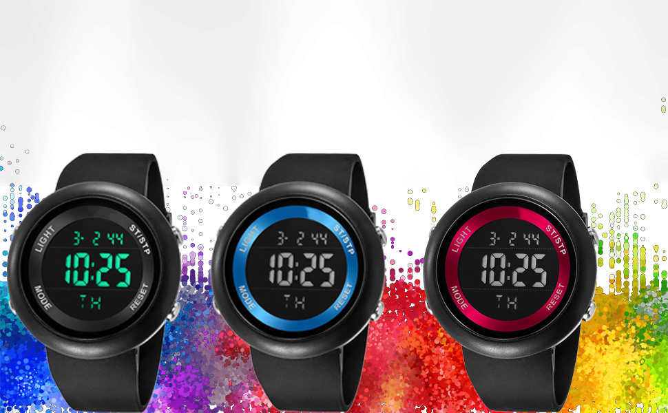 digital watch for boys mens