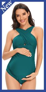 Maternity Front Cross Pregnancy Swimwear