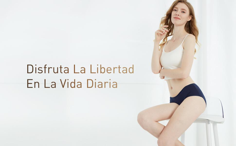 INNERSY Bragas Mujer Algodón Culotte de Sexy y Cómoda Ropa Interior Pack de 6: Amazon.es: Ropa y accesorios