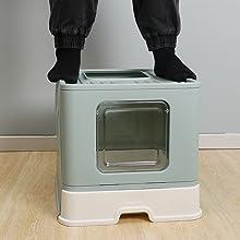Sturdy cat litter box