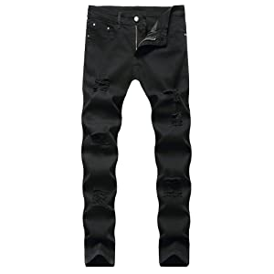 ripped jeans men mens ripped slim fit skinny destroyed distressed men skinny ripped jeans