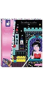 Janod Crafts Princesses Scratch Art Kit
